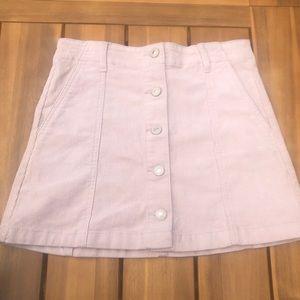 Pink button up skirt 💗